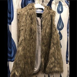 Banana Republic Furry Vest - Size Medium
